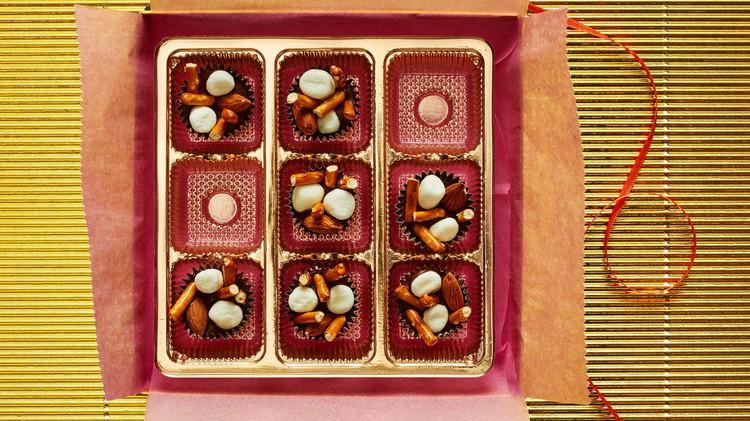 "<p>All you need is four ingredients for this quick and easy dessert that uses marshmallows, whole almonds, chocolate, and mini broken pretzel sticks. <a href=""https://www.marthastewart.com/1165958/rocky-road-bites"" rel=""nofollow noopener"" target=""_blank"" data-ylk=""slk:View recipe"" class=""link rapid-noclick-resp""> View recipe </a></p>"