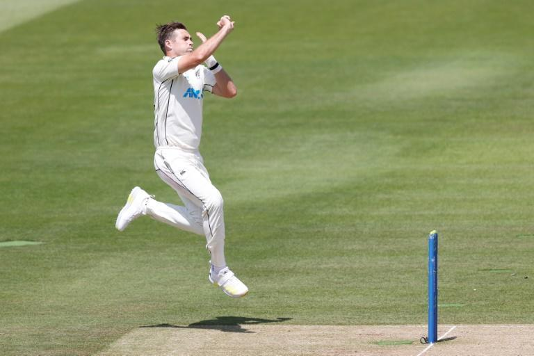 Attack leader - New Zealand's Tim Southee bowls during his 6-43 against England in the first Test at Lord's on Saturday