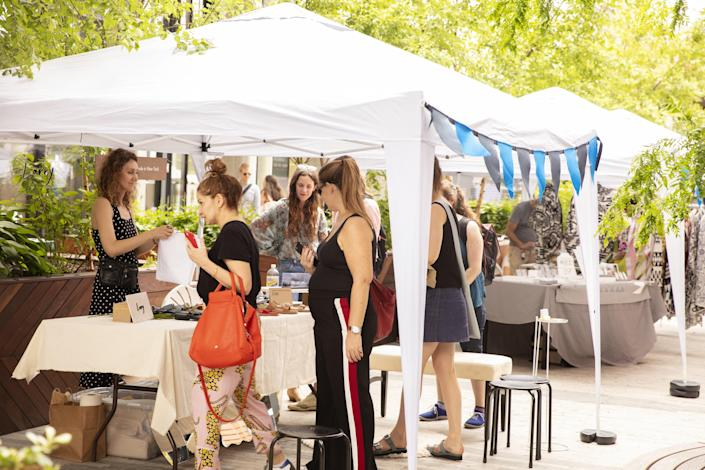 """<div class=""""caption""""> More than 25 rotating makers fill the outdoor spaces around the William Vale. </div>"""