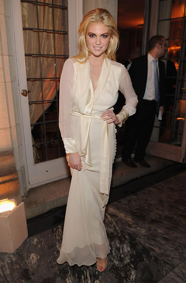 WASHINGTON, DC - APRIL 28: Model Kate Upton attends the Bloomberg & Vanity Fair cocktail reception following the 2012 White House Correspondents' Association Dinner at the residence of the French Ambassador on April 28, 2012 in Washington, DC.