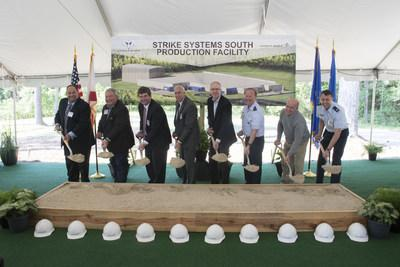 Local officials, U.S. Air Force customers and Lockheed Martin representatives break ground on the company's new Strike Systems South production facility at Lockheed Martin's Pike County Operations in Troy, Alabama.