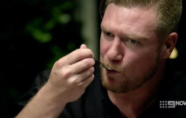 Viewers also took to Twitter to comment about Dean eating his cupcake with a spoon. Source: Nine