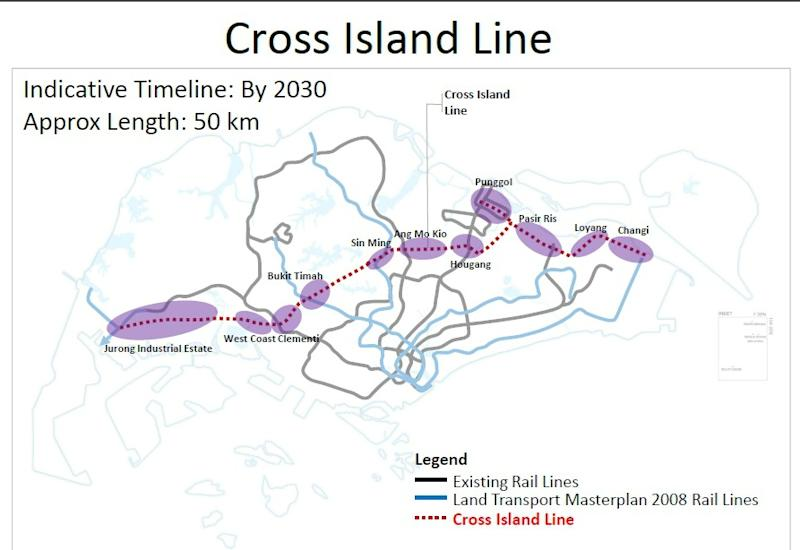 Cross Island Line (Courtesy of LTA)