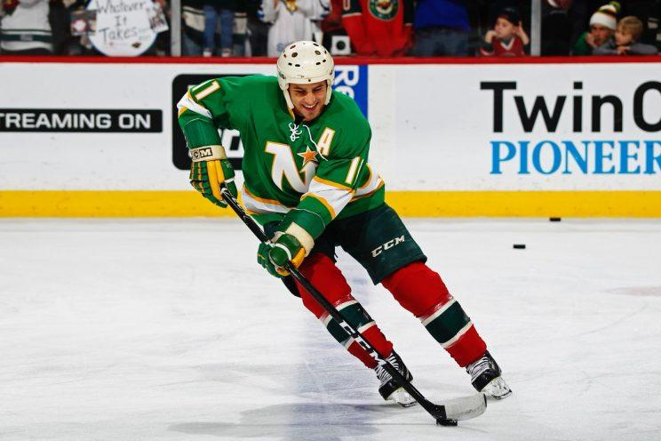 Photo of Zach Parise tweeted out by the Minnesota Wild.