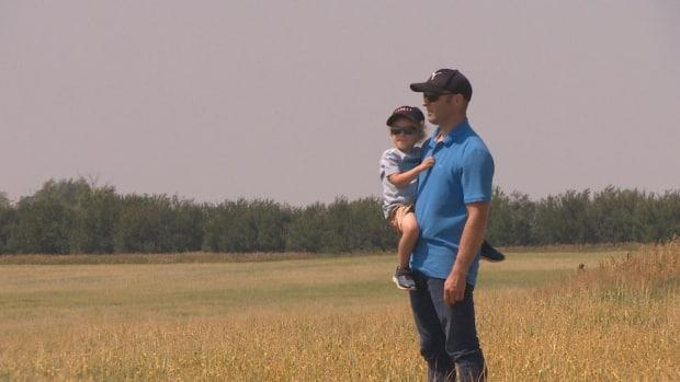Jeremy Welter is a fourth-generation farmer in Kerrobert, Sask., who grew up in the fields. He's among farmers across Saskatchewan who are feeling pressure this year, due to dry conditions hurting his crops.  (Richard Acegoutay/CBC - image credit)
