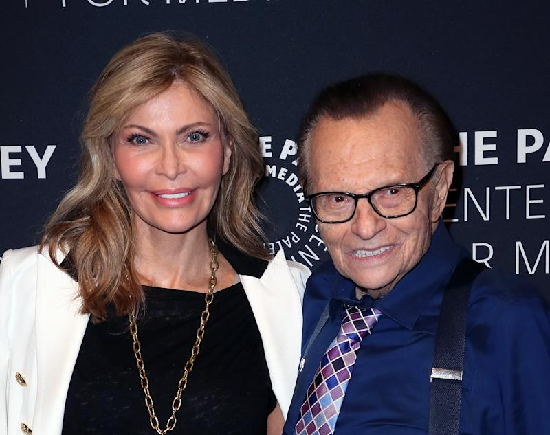 BEVERLY HILLS, CA - AUGUST 01: Shawn King (L) and TV host Larry King attend A Special Evening With Dionne Warwick: Then Came You presented by The Paley Center for Media at The Paley Center for Media on August 1, 2018 in Beverly Hills, California. (Photo by David Livingston/Getty Images)
