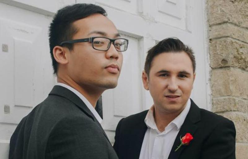 Jerome Pacquing (left) and Ryan Curran married more than a year ago, but now they are desperate to have a baby. Source: Almost Dad's Ryan & Jerome / Facebook