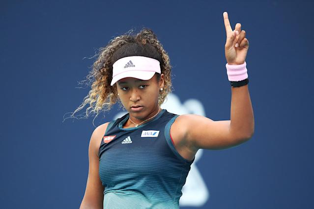 Osaka was born in Japan but lives in the United States (Getty)