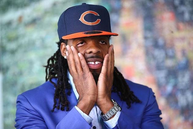 Awww shucks! Kevin White is actually receiving fantasy props, for once. (Getty)