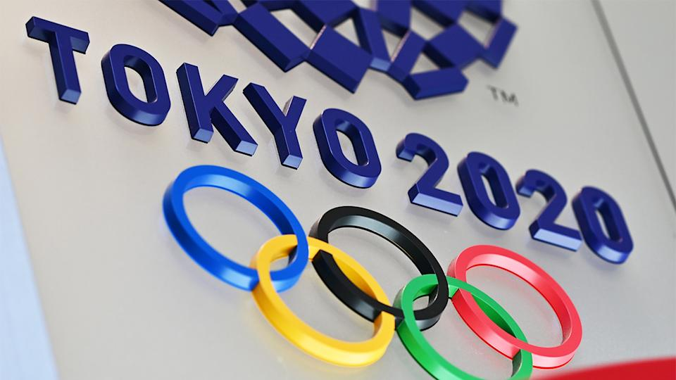 The Tokyo Olympic rings.