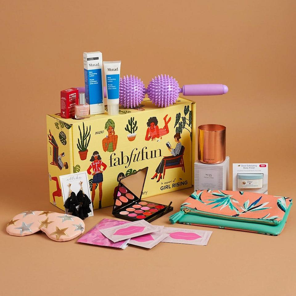 """The more time we spend inside, the more creative we get with our pastimes (trace-your-hand, anyone?). Luckily, FabFitFun's quarterly box has enough to keep you busy: each delivery comes with 8 to 10 full-size products across the beauty, fashion, and lifestyle categories. Sold. $50, Fabfitfun. <a href=""""https://fabfitfun.com/get-the-box/"""" rel=""""nofollow noopener"""" target=""""_blank"""" data-ylk=""""slk:Get it now!"""" class=""""link rapid-noclick-resp"""">Get it now!</a>"""