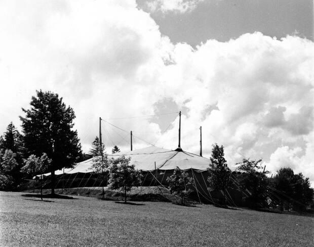 The Stratford Festival tent is pictured in 1953. The Festival's plan to hold performances under canopies is, in some ways, a return to its roots.