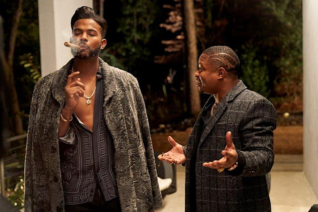 Trevor Jackson and Jason Mitchell in <em> SuperFly.</em> (Photo: Sony)