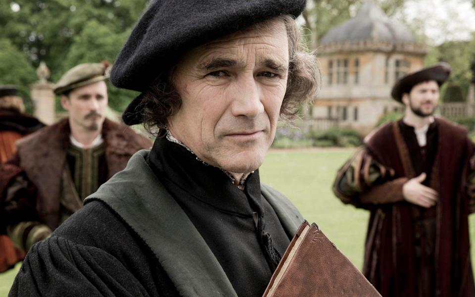 Mark Rylance as Thomas Cromwell in the BBC's 2015 adaptation of Wolf Hall by Hilary Mantel - Giles Keyte/Company Productions Ltd