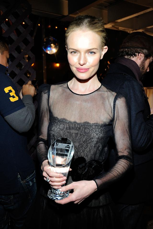 PARK CITY, UT - JANUARY 22:  Actress Actress Kate Bosworth attends Creative Coalition's 2012 Spotlight Initiative Gala Awards Dinner at The Supper Club by Stella Artois during the 2012 Sundance Film Festival on January 22, 2012 in Park City, Utah.  (Photo by Frazer Harrison/Getty Images for Stella Cafe)