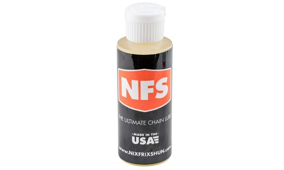 """<p>nixfrixshun.com</p><p><strong>$15.00</strong></p><p><a href=""""http://nixfrixshun.com/nixfrixshun-ultimate-bicycle-chainlube/"""" rel=""""nofollow noopener"""" target=""""_blank"""" data-ylk=""""slk:Shop Now"""" class=""""link rapid-noclick-resp"""">Shop Now</a></p><p>NixFrixShun Ultimate Bicycle Chainlube is $15 a bottle, which means it costs $960 a gallon. Nothing in cycling should be that expensive except maybe a spell-casting vial of Fausto Coppi's sweat. And this lube. Why? Because NFS keeps chains silent and gunk- and corrosion-free through dusty, mucky, drenched, parched, icy conditions, or whatever else you got. And you should get 10,000 to 15,000 miles of use per bottle. Use no more than 12 drops for first use and after each cleaning with hot soap and water; after each ride, swipe the works with a dry cotton rag and refresh with three to four drops.</p>"""