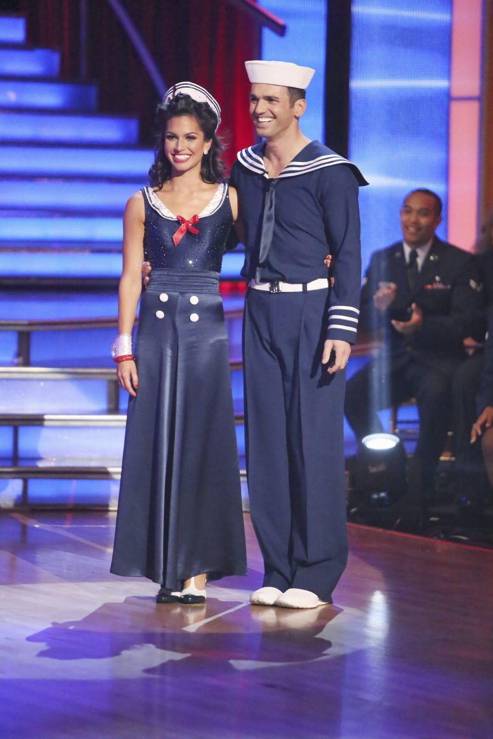 "<p>While rehearsing a group number for the show, the former <em>Bachelorette</em> injured her spine and was taken to the hospital. ""Melissa was diagnosed with a disc herniation at the C4-C5 level of her cervical spine,"" her rep told <em><a href=""http://people.com/tv/dancing-with-the-stars-melissa-rycroft-injured-rehearsal-footage/"" rel=""nofollow noopener"" target=""_blank"" data-ylk=""slk:People"" class=""link rapid-noclick-resp"">People</a></em>. Her injury sounded severe, but she went on to win the all-star season 15. </p>"