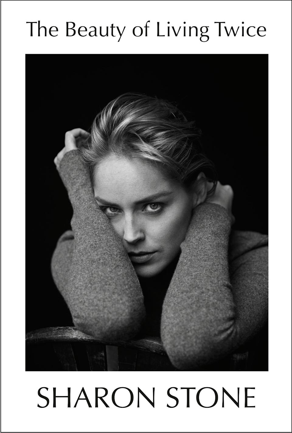 The Beauty of Living Twice, Sharon Stone's new memoir, is out on March. 30. (Photo: Knopf Doubleday)