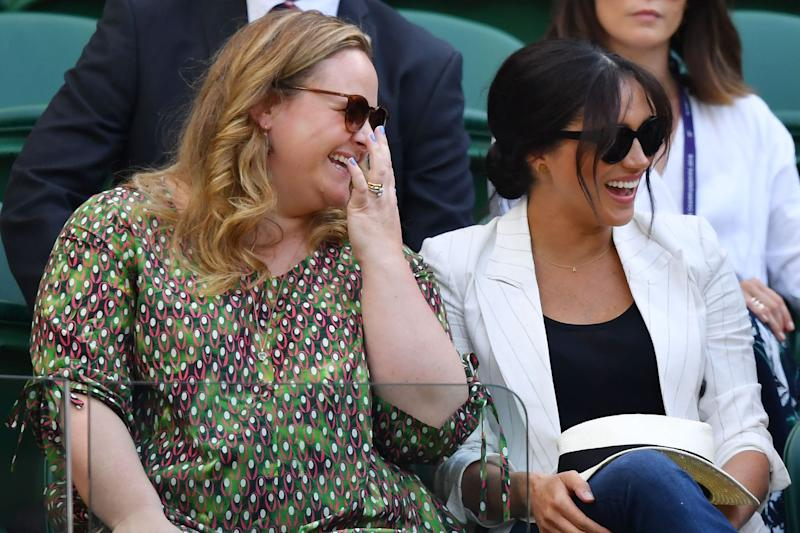 Meghan Markle makes surprise appearance at Wimbledon to support friend Serena Williams