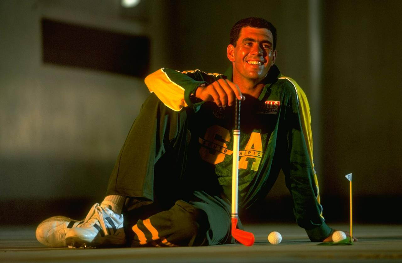 1998:  Hansie Cronje of South Africa in action during a Pepsi Commission at the Wills International Cup played in Dhaka, Bangladesh.  \ Mandatory Credit: Clive Mason /Allsport