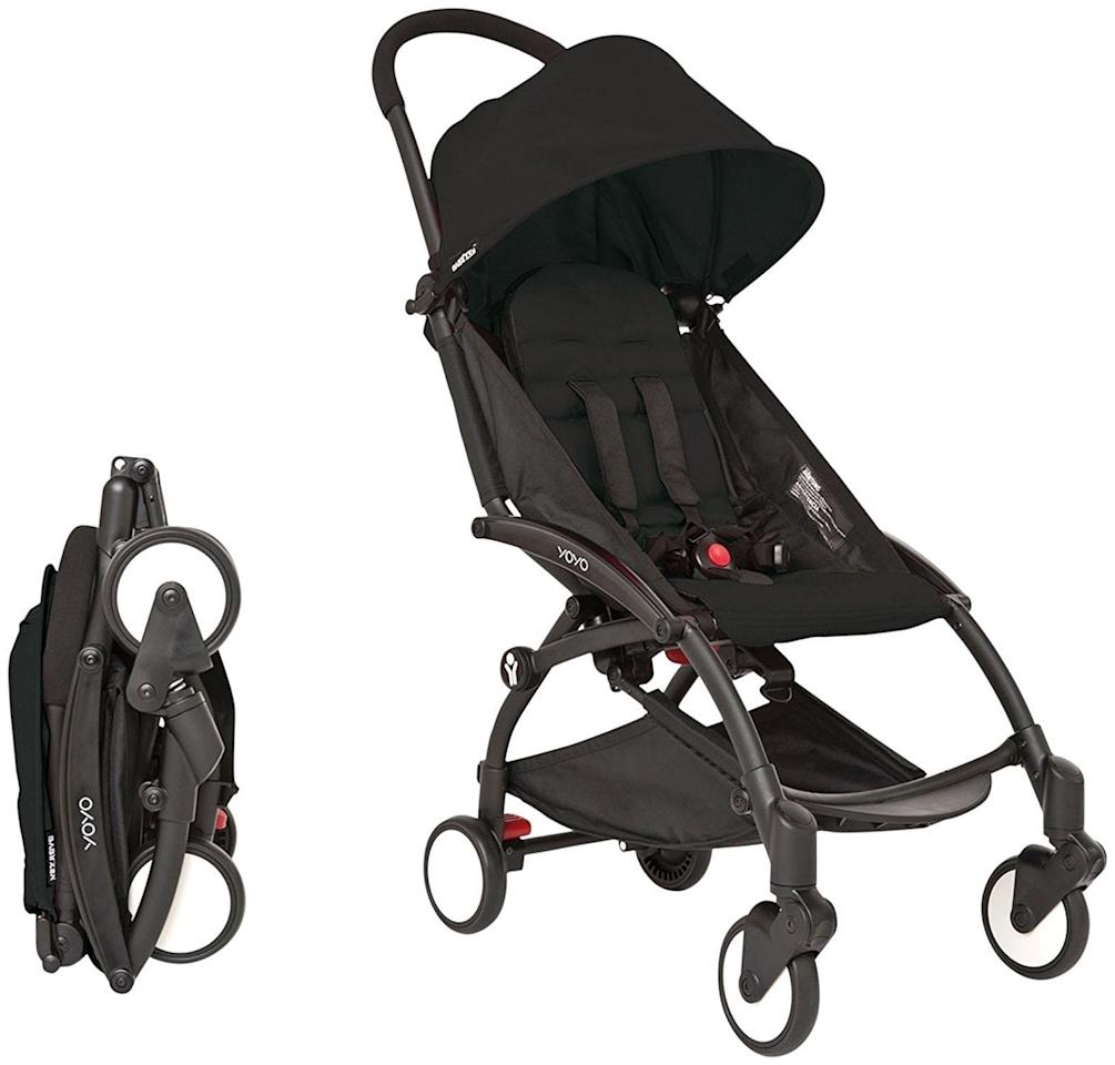 """<p>Parents who find themselves frequently traveling gush over the <a rel=""""nofollow"""" href=""""https://www.popsugar.com/buy/Babyzen%20Yoyo%20Stroller-114660?p_name=Babyzen%20Yoyo%20Stroller&retailer=amazon.com&price=499&evar1=moms%3Aus&evar9=45974192&evar98=https%3A%2F%2Fwww.popsugar.com%2Ffamily%2Fphoto-gallery%2F45974192%2Fimage%2F45974237%2FBabyzen-Yoyo-Stroller&list1=shopping%2Cstrollers%2Cbaby%20registry%2Cbest%20of%202018&prop13=mobile&pdata=1"""" rel=""""nofollow"""">Babyzen Yoyo Stroller</a> ($499). When folded, it's 20 inches by 17.5 inches by 7 inches.</p>"""