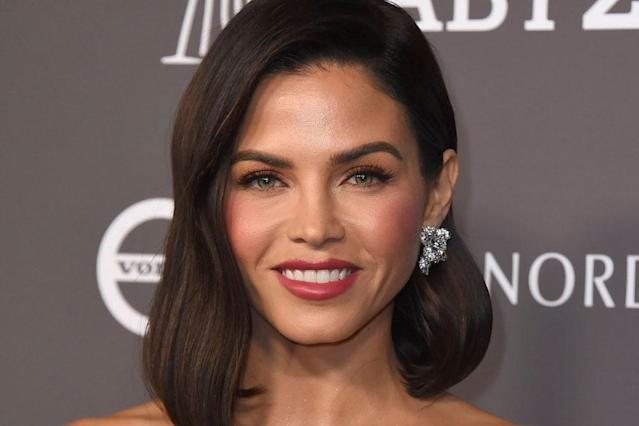 b877c432dfeb Jenna Dewan Shows Off Flirty Spring Style in Red-Hot Dress   Two-Tone  Sandals