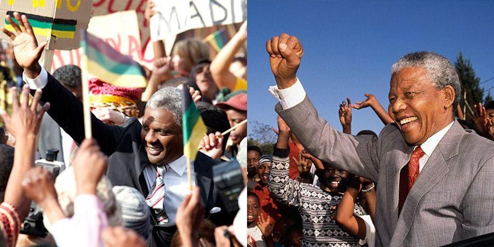 <p>Elba portrayed human rights advocate, Nobel Peace Prize winner, and former South African President, Nelson Mandela, in the 2013 film <em>Mandela: Long Walk to Freedom. </em></p>
