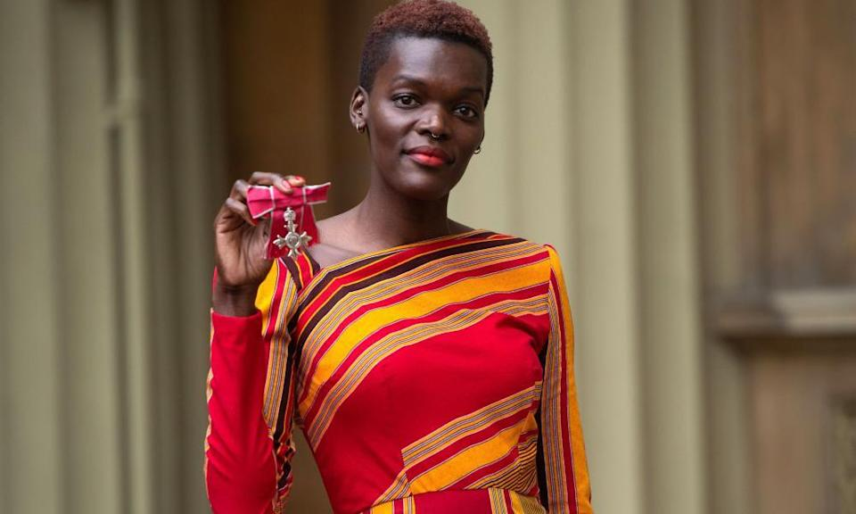 Sheila Atim after receiving an MBE for services to drama, December 2019.