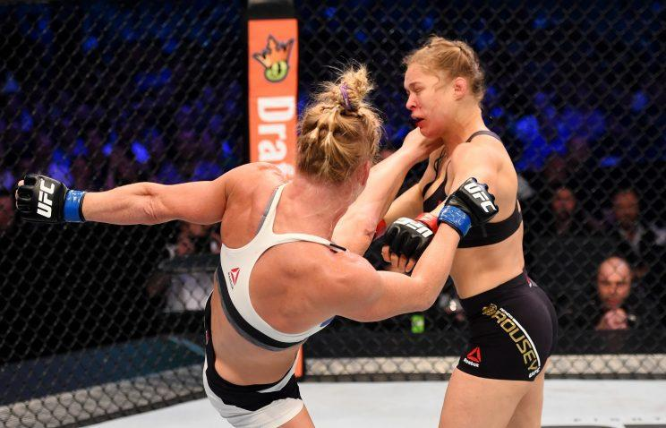 Ronda Rousey will fight on Dec. 30 for the first time since getting knocked out by Holly Holm. (Getty)