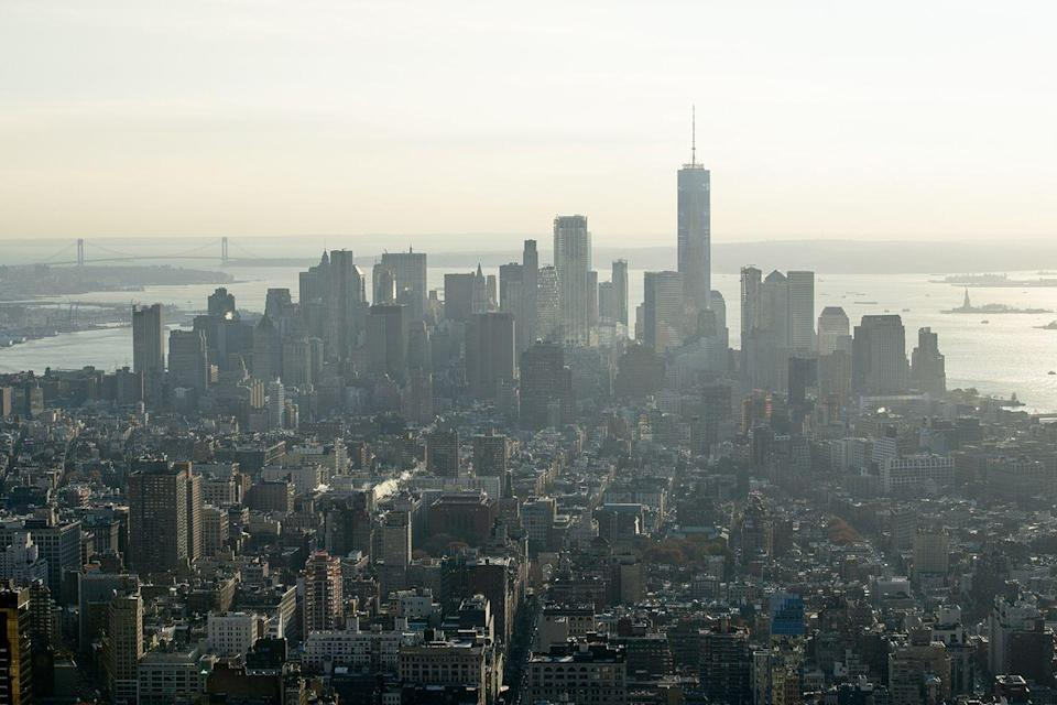 <p>A jaw-dropping view of the ever-growing New York skyline from the top of the Empire State Building. </p>