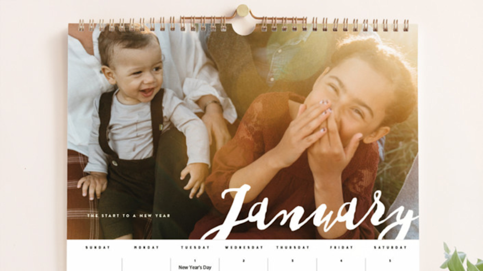 Best gifts for mom: Personalized calendar
