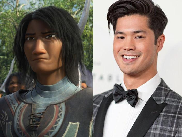 Spine Chief Ross Butler  Raya and the Last Dragon movie cast in real life Disney