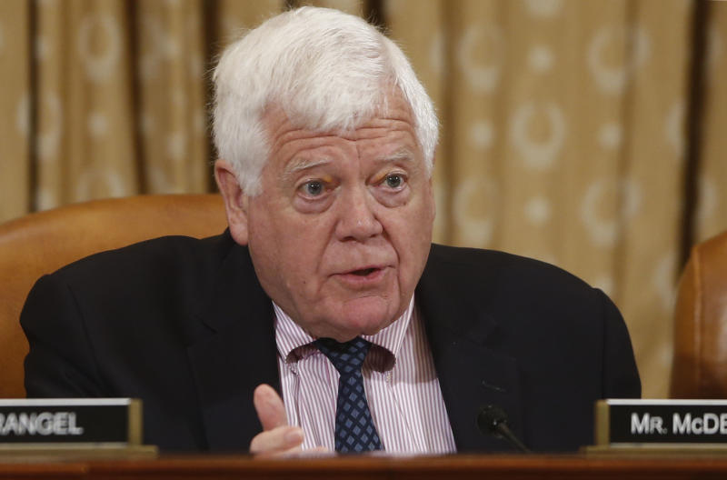 "In this photo taken June 4, 2013, Rep. Jim McDermott, D-Wash., asks a question during a House Ways and Means Committee hearing on the unfair targeting by the IRS of organizations seeking tax-exempt status on Capitol Hill in Washington. Democrats in Congress said they are growing tired of Republican attempts to repeal the President Barack Obama's health care law. ""The American people will see over the next six months the lengths the Republicans will go to destroy the implementation of the Affordable Care Act,"" said McDermott. ""I've expected it from the first day this (IRS) issue came up."" (AP Photo/Charles Dharapak)"