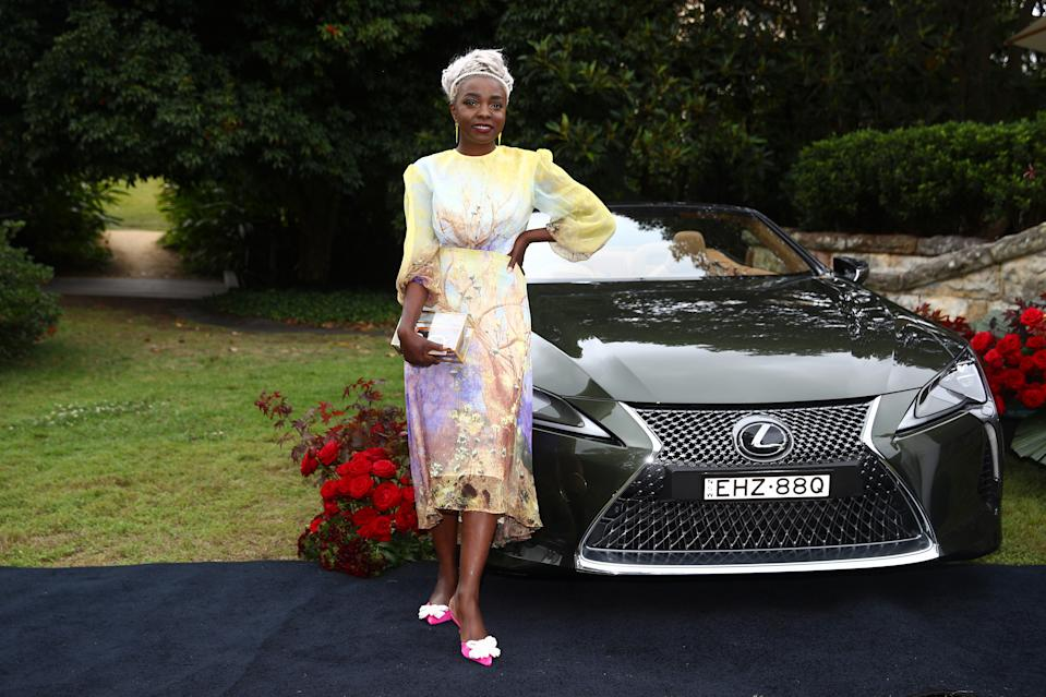 SYDNEY, AUSTRALIA - OCTOBER 27: Suzan Mutesi attends the 2020 Melbourne Cup Carnival Sydney Launch on October 27, 2020 in Sydney, Australia. (Photo by Don Arnold/WireImage)