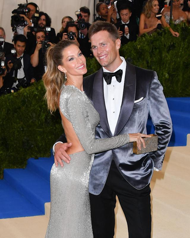 Gisele Bündchen and Tom Brady at the 2017 Met Gala. (Photo: Getty Images)