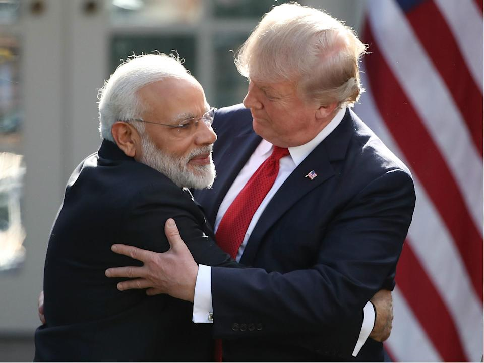 Trump has a keen following in India, particularly among supporters of prime minister Narendra Modi (Getty)