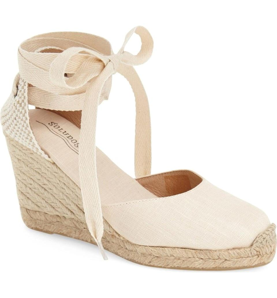 <p>These neutral <span>Soludos Wedge Lace-Up Espadrille Sandals</span> ($95) will go with your floral maxi dresses, tropical print mini dresses-basically everything.</p>