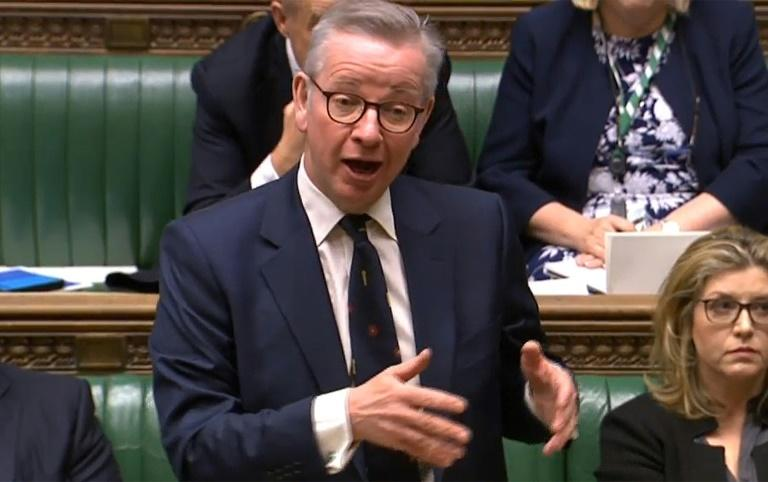 Senior UK minister Michael Gove told the House of Commons that the government would not 'trade away our sovereignty'