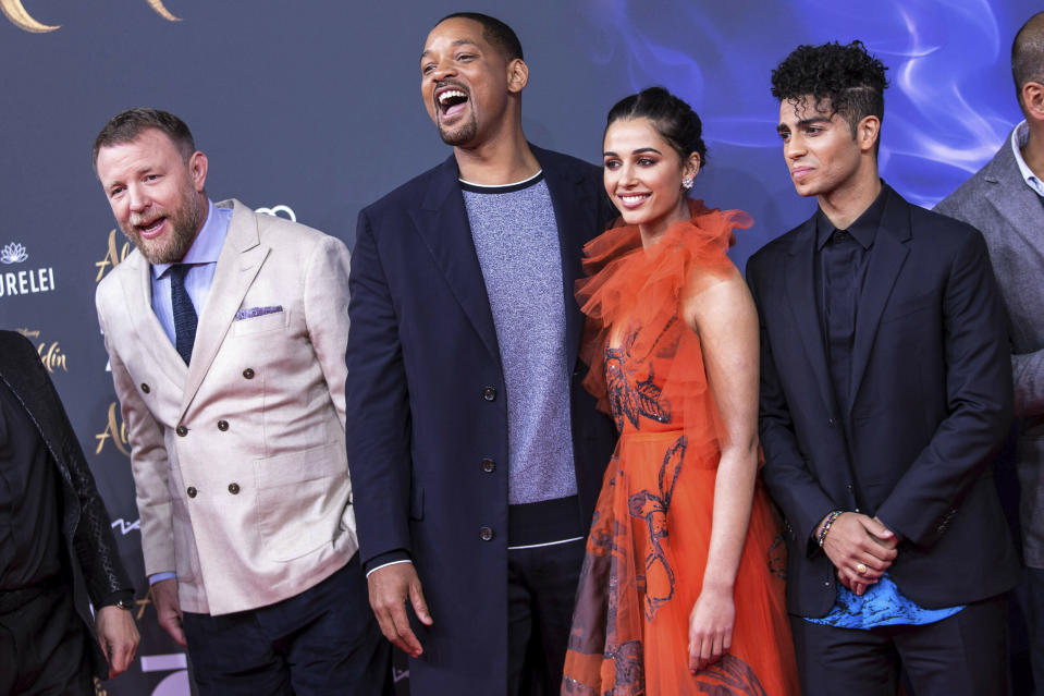 Photo by: KGC-324-RC/STAR MAX/IPx 2019 5/11/19 Guy Ritchie, Will Smith, Naomi Scott and Mena Massoud at the premiere of 'Aladdin' in Berlin, Germany.