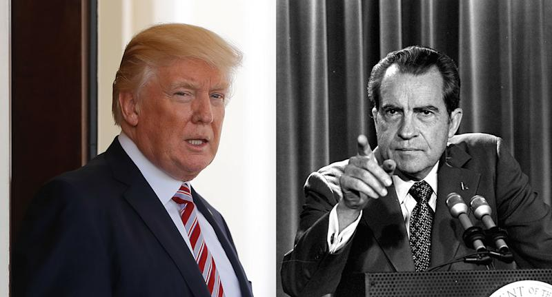 Richard Nixon y Donald Trump.