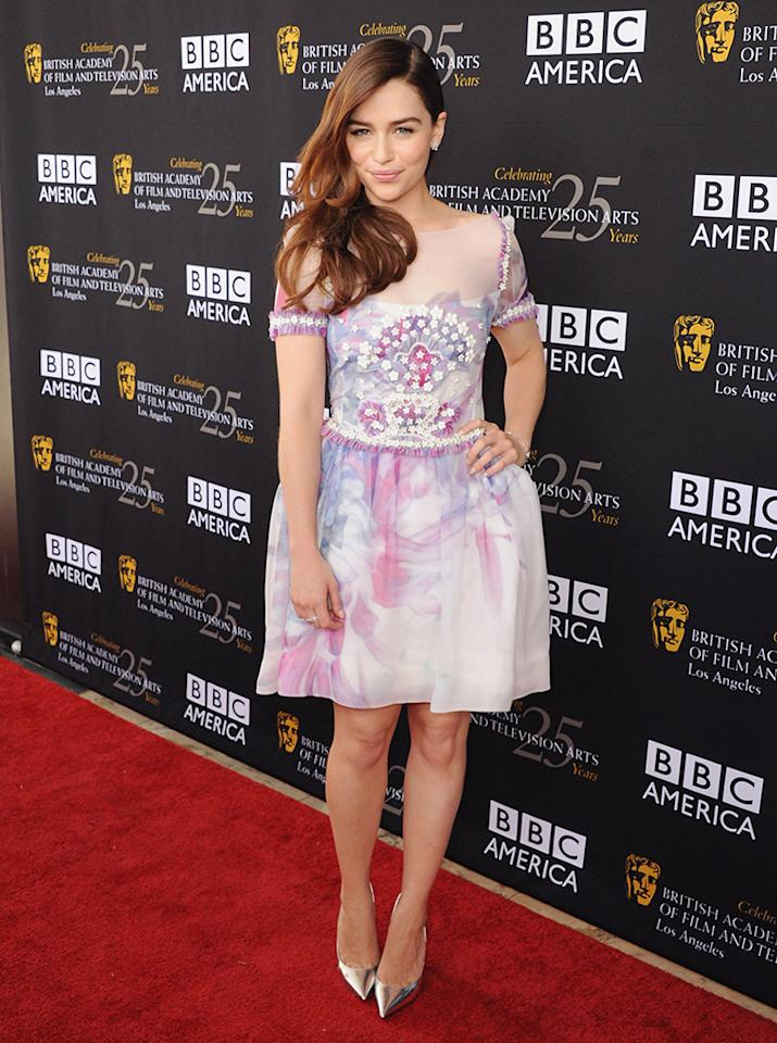 Emilia Clarke arrives at the BAFTA Los Angeles TV Tea 2012 Presented By BBC America at The London Hotel on September 22, 2012 in West Hollywood, California.
