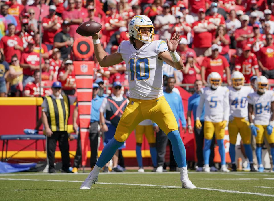 Justin Herbert engineered the Chargers' win over the Chiefs, who have started a disappointing 1-2.