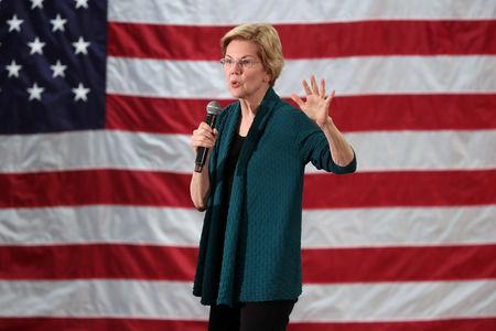 FILE PHOTO: Democratic 2020 U.S. presidential candidate and U.S. Senator Elizabeth Warren (D-MA) speaks to supporters in Memphis, Tennessee, U.S. March 17, 2019. REUTERS/Karen Pulfer Focht