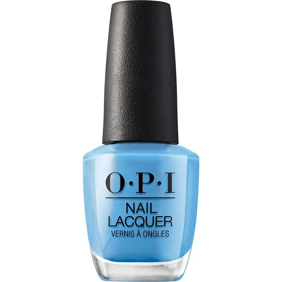 """<p>This <a href=""""https://www.popsugar.com/buy/OPI%20Nail%20Lacquer%20in%20No%20Room%20For%20the%20Blues-430358?p_name=OPI%20Nail%20Lacquer%20in%20No%20Room%20For%20the%20Blues&retailer=amazon.com&price=11&evar1=bella%3Aus&evar9=46357033&evar98=https%3A%2F%2Fwww.popsugar.com%2Fbeauty%2Fphoto-gallery%2F46357033%2Fimage%2F46357520%2FOPI-Nail-Lacquer-Room-Blues&list1=shopping%2Camazon%2Cnail%20polish%2Cnails%2Csummer%2Csummer%20beauty&prop13=mobile&pdata=1"""" rel=""""nofollow noopener"""" target=""""_blank"""" data-ylk=""""slk:OPI Nail Lacquer in No Room For the Blues"""" class=""""link rapid-noclick-resp"""">OPI Nail Lacquer in No Room For the Blues</a> ($11) is the color of the ocean.</p>"""
