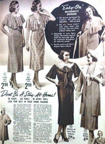 <p>Flounced necklines, capes, and oversized bows and embellishments helped women hide a bump for a little bit longer.</p>