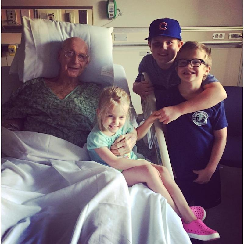 All three kids cheered Jim up during his hospital stay.  (Lindsay Marcy)