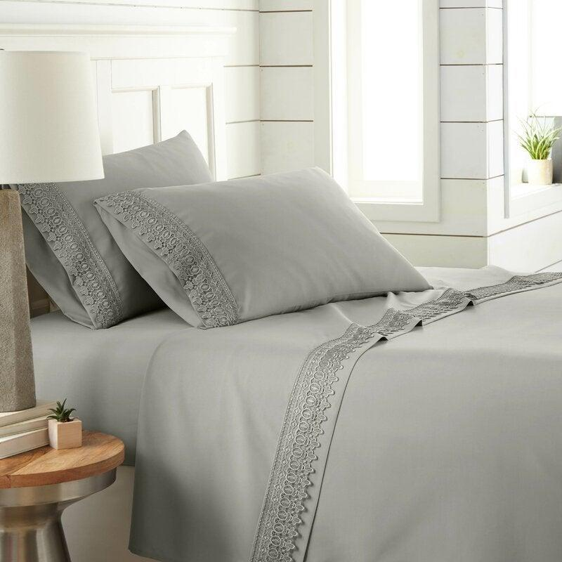 "<br><br><strong>Laurel Foundry Modern Farmhouse</strong> Eldon Sheet Set, $, available at <a href=""https://go.skimresources.com/?id=30283X879131&url=https%3A%2F%2Fwww.wayfair.com%2Fbed-bath%2Fpdp%2Feldon-sheet-set-lfmf4295.html"" rel=""nofollow noopener"" target=""_blank"" data-ylk=""slk:Wayfair"" class=""link rapid-noclick-resp"">Wayfair</a>"