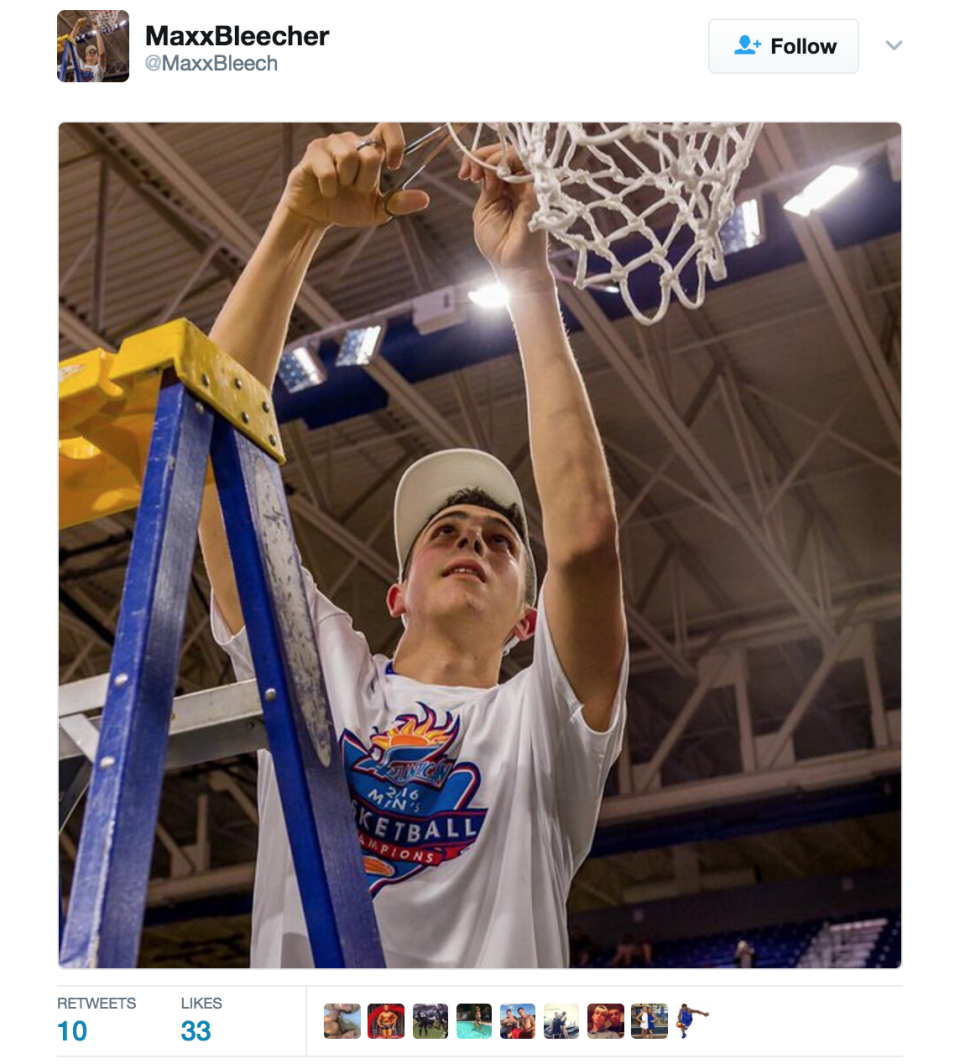 <p>It's only fitting that Bleecher hails from Dunk City. </p>