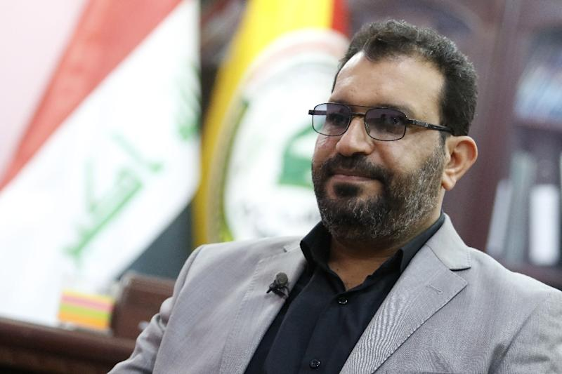 """Iraq election candidate Falih Khazali, who fought Islamic State group jihadists, says he helped """"win victory where even the 66 countries of the international coalition couldn't fight"""" (AFP Photo/HAIDAR MOHAMMED ALI)"""