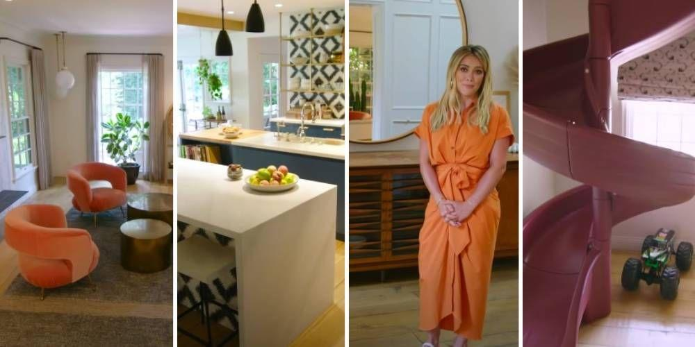 """<p>While we recently got a glimpse inside <a href=""""https://www.cosmopolitan.com/uk/interiors/a34140242/meghan-markle-santa-barbara-interiors/"""" target=""""_blank"""">Meghan Markle's new Santa Barbara home</a>, it's Hilary Duff's house tour that we're absolutely obsessing over. In a new interview with <a href=""""https://www.youtube.com/channel/UC0k238zFx-Z8xFH0sxCrPJg"""">Architectural Digest</a>, the Lizzie Maguire actress lets the camera inside her humble abode, showing them around her family home. And from the actual slide(!) to the chicken coop, neon signs and bright pink bathroom, it's such a fun and playful space.</p><p>""""A sunny vibe radiates through every room of the Duff household, a feeling curated across two renovations of the space in the past 8 years,"""" the hour tour's description reads. """"Featuring walls packed with pictures of her family, shelves filled with her children's toys and friendly pets popping up to say hello, Hilary's home is a cheerful reminder of what matters most in life. </p><p>""""Case in point -  a typical day includes tending to the chickens in her outdoor coop, enjoying the sunshine, while her son Luca bounces on the backyard trampoline.""""</p><p>We couldn't think of anything more fun. Take a look inside Hilary Duff's house:<br></p>"""